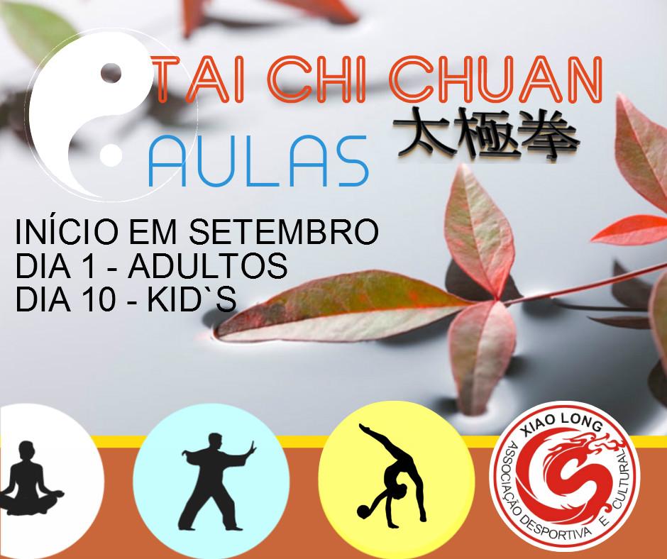 inicio das aulas de tai chi e de qigong na escola xiao long associação